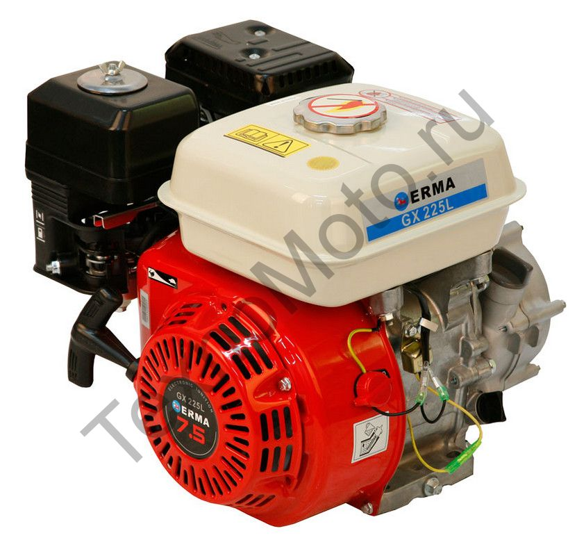 Двигатель Erma Power GX225L D20(7,5 л. с.) с редуктором